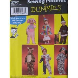 Simplicity Sewing Patterns For Dummies 2787 Costumes for
