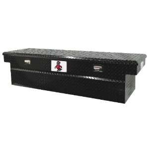State 71 Black Aluminum Single Lid Full Size Cross Bed Truck Tool Box