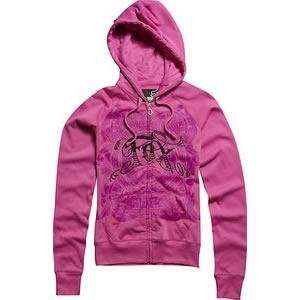 Racing Womens Chaotic Fox Zip Up Hoodie   Medium/Cupid Automotive