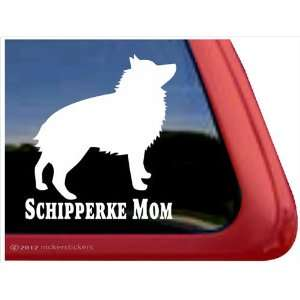 Schipperke Mom ~ Schipperke Dog Vinyl Window Auto Decal