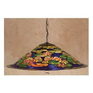 24 Inch W Tiffany Pond Lily Pendant Ceiling Fixture
