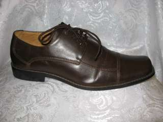 SALVATORI Mens Shoes Italy Brown Oxfords, Sz. 10.5M
