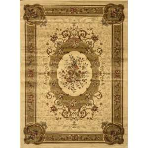 Home Dynamix Royalty Ivory Floral Medallion 36 x 52 Rug (8078