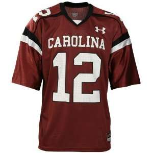 Under Armour South Carolina Gamecocks #12 Garnet Replica
