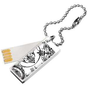 Glam Cute 2GB USB Flash Drive in Lace with Swarovski