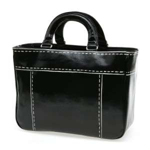 Kate Spade POSTMARK JASPER Black Canvas Handbag
