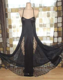 Avant Garde Lace Illusion Full Sweep Goddess Nightgown Gown L/XL PETRA
