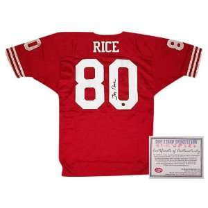 Jerry Rice Signed Jersey   San Francisco 49ers Red Sports