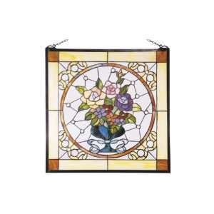 Dale Tiffany SC0075 Garthwaite Art Glass Window Panel , 24