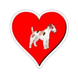 Fox Terrier Love   Window Bumper Sticker
