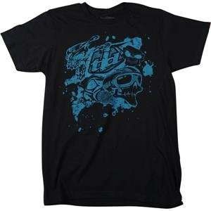 Lee Designs Skullface Slim Fit T Shirt   2X Large/Black Automotive