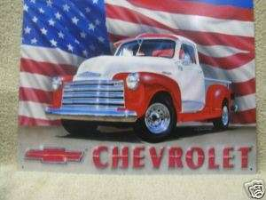 Old Chevy Pickup Chevrolet truck tin metal sign