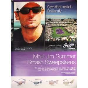 Maui Jim / Mardy Fish   Sunglasses Poster   Double Sided   ATP Masters