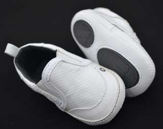 White New toddler baby boy walking shoes size 1 2 3