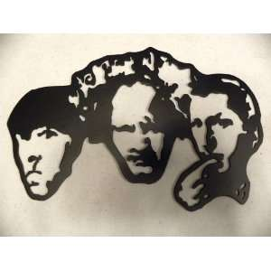 Home Theater Decor Three Stooges Metal Wall Art