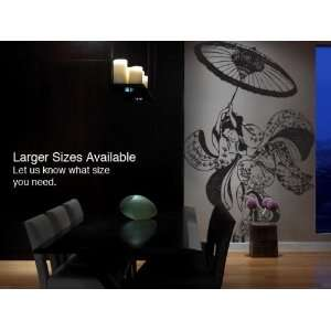 Vinyl Wall Art Decal Sticker Japanese Geisha Dress Dancer Big 6ft Tall
