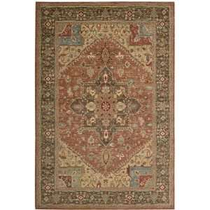 Living Treasures Collection Traditional Rust Wool Rug 2.60