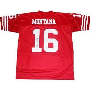 Joe Montana Replithentic Red 49ers Jersey Sports