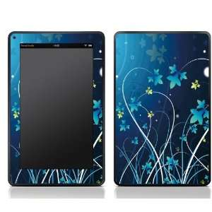 Blue Flower Design Kindle Fire Skin Sticker Cover Art Decal, Latest