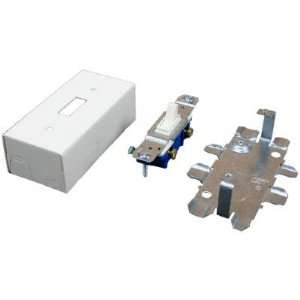 Wiremold V57240 Single Pole Switch & Box With Cover, Ivory