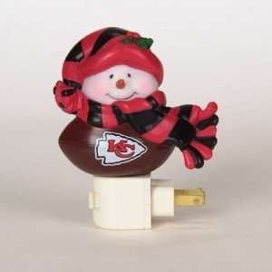 Kansas City Chiefs NFL Snowman Night Light (5)