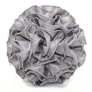 and Clip Flower, Chain Edge Ruffle Rose Grey Arts, Crafts & Sewing