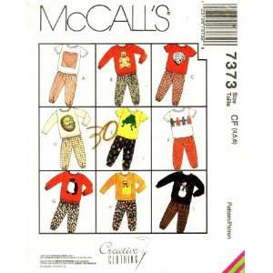 McCalls 7373 Sewing Pattern Toddler Boys Girls Shirt