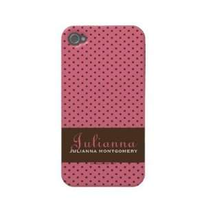 Case Mate Pink Polka Dots Case mate Iphone 4 Cases Cell Phones