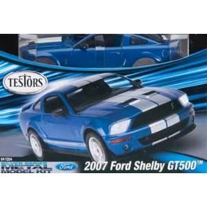 24 Metal Replica 2007 Ford Shelby GT500 Car Model Kit Toys & Games