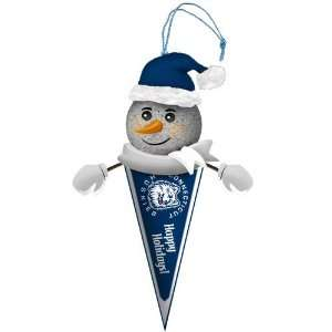 Pack of 3 NCAA Connecticut Huskies Lighted Snowman Pennant