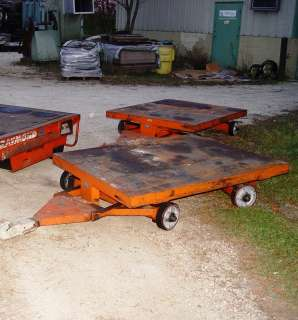 2x Nutting 4 Wheel Flatbed Trailers w/4 wheel steering   trailer hitch