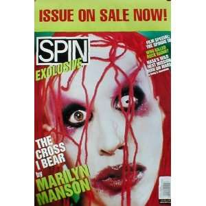 Marilyn Manson (Spin Cover, Original) Music Poster Print