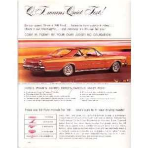 1966 FORD GALAXIE LTD Sales Page Literature Piece