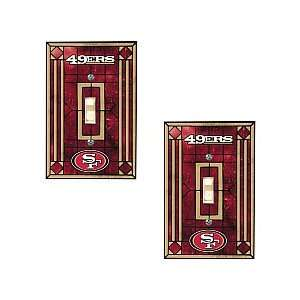 Memory Company San Francisco 49Ers Art Glass Swtich Covers