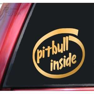 Pit Bull / Pitbull Inside Vinyl Decal Sticker   Mirror