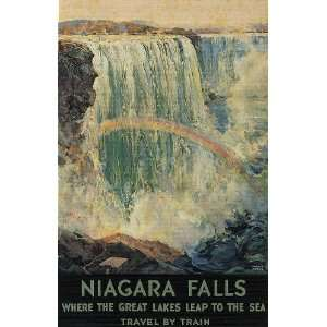 NIAGARA FALLS WHERE THE GREAT LAKES LEAP TO THE SEA TRAVEL TOURISM
