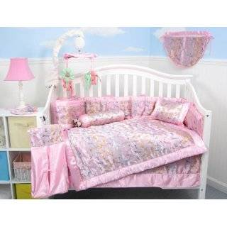 SoHo Pink Moo Moo Chenille Baby Crib Nursery Bedding SET 10 Pieces