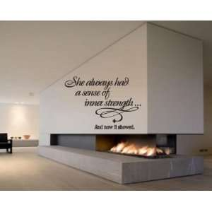 Now It Showed Sports Vinyl Wall Decal Sticker Mural Quotes Words