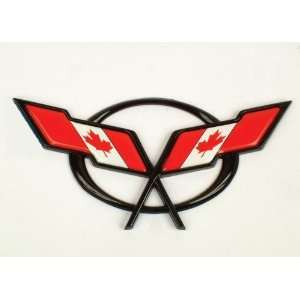 1997 2004 Corvette Canadian Flag Overlay Decal Automotive