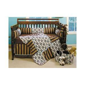 Chocolate Block Crib Bedding 4pc Set by Trend Lab Baby
