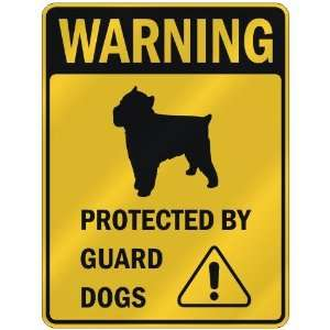 WARNING  BRUSSELS GRIFFON PROTECTED BY GUARD DOGS  PARKING SIGN DOG