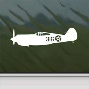 P 40 Tomahawk Pearl Harbor Taylor White Sticker Laptop