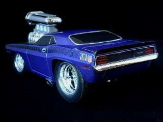 MUSCLE MACHINES 1970 Plymouth Cuda Diecast 118 Purple