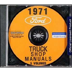 1971 Ford Truck Repair Shop Manual Set on CD ROM Ford Books
