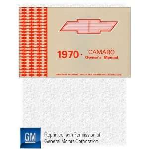 1970 Chevrolet Chevy Camaro Owners Manual Automotive