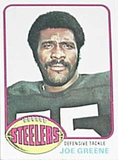 1976 Topps Trading Card, Football   Joe Greene, Mean