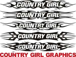 COWGIRL Windshield Sticker Decal Graphic Tribal Banner