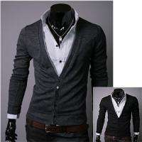 Mens slim fit simple cardigan 2color(sz us S,M)
