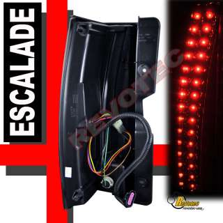 07 08 09 10 11 CADILLAC ESCALADE LED TAIL LIGHTS SMOKE