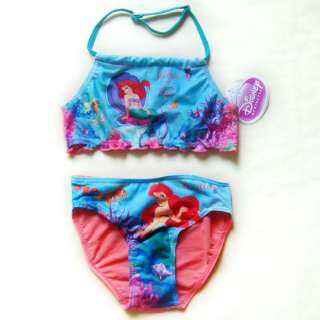 ARIEL GIRLS BIKINI SWIMSUIT SWIMMING COSTUME AGE 1 8 YEARS
